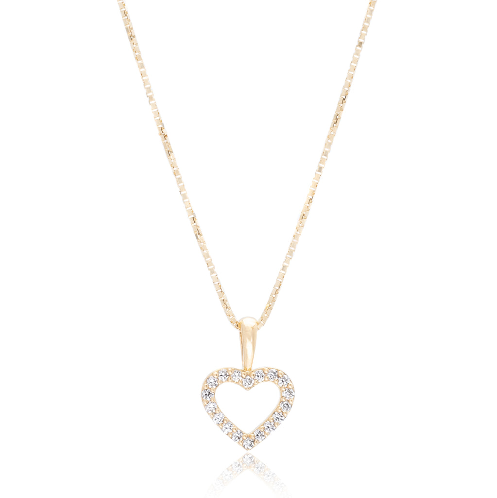 5c2c89fbbfc2d 18K Yellow Gold Diamond Heart Pendant
