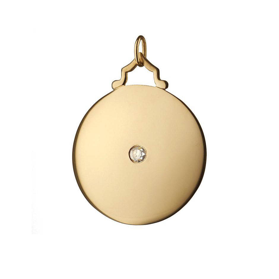 18K Yellow Gold Engraveable Charm