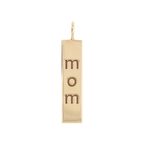14K ID Nameplate Charm Necklace