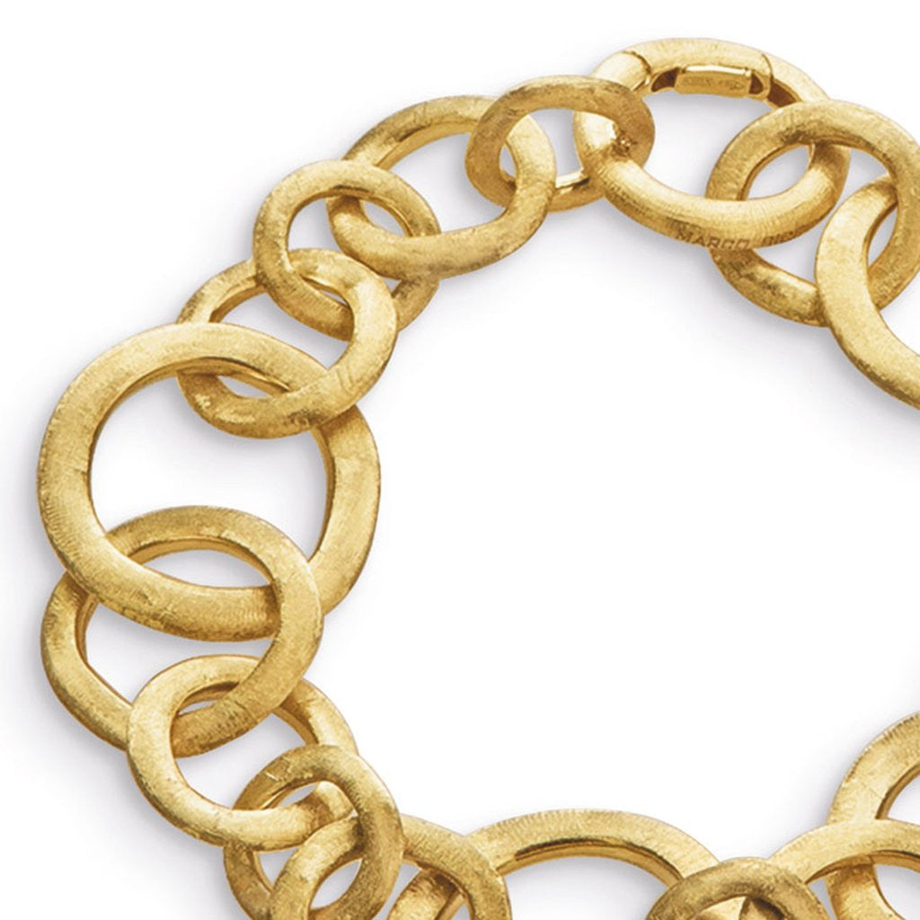 Jaipur 18K Yellow Gold Link Small Gauge Bracelet