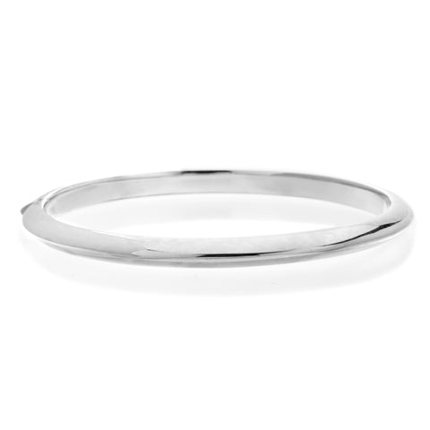 18K White Gold Knife Edge Bangle