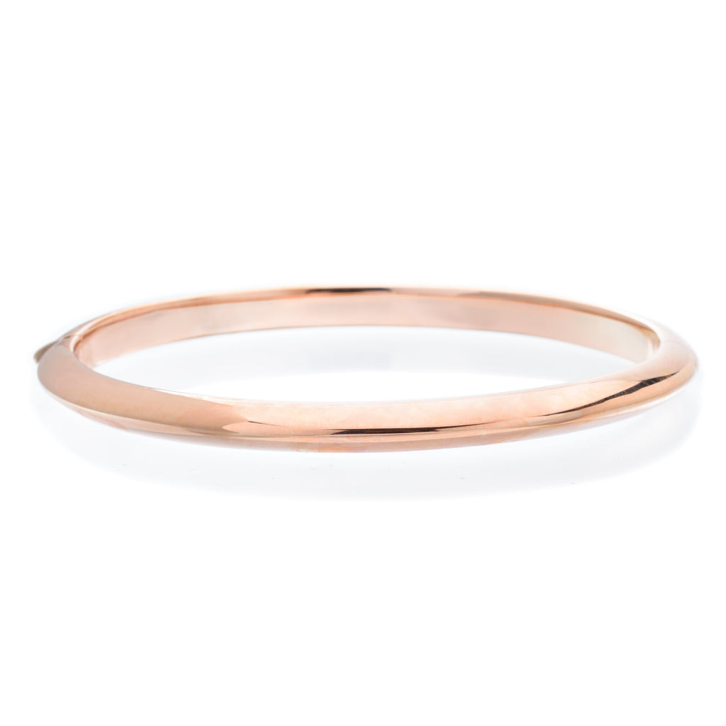 18K Rose Gold Knife Edge Bangle