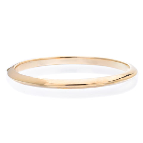 18K Yellow Gold Knife Edge Bangle