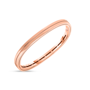 18K Rose Gold Portofino 2 Row Bangle