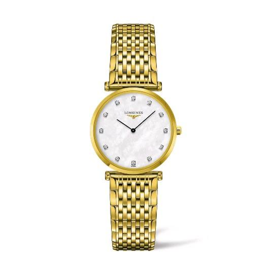La Grande Yellow Gold Mother of Pearl Dial Watch