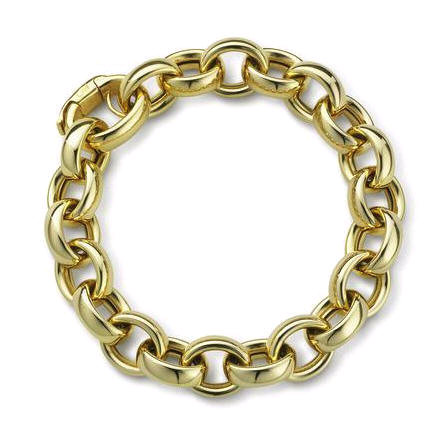Modern Chain Bracelet with Diamonds