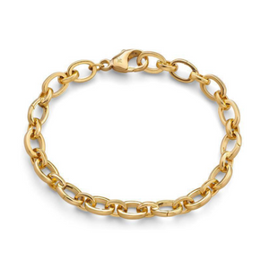 18K Yellow Gold Hinged Charm Bracelet