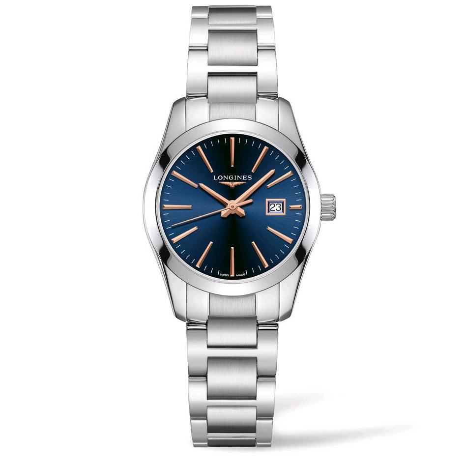 Conquest Stainless Steel Blue Dial Watch
