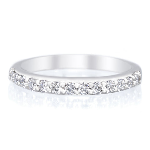 Platinum Shared Prong Diamond Wedding Ring