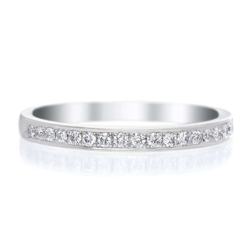 Platinum Shared Prong Diamond Band