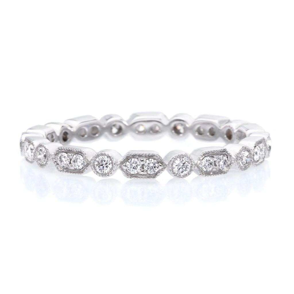 and bands products band stackables platinum diamond ring pave rings eternity concierge