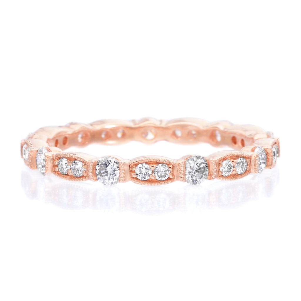 diamonds eternity band set and diamond rose baxtermoerman products with gold bezel bands in