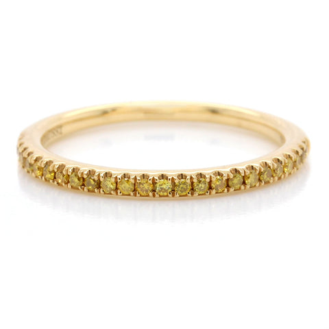 18K Yellow Gold Yellow Diamond Pave Band