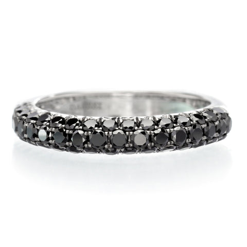 14K White Gold Black Pavé Diamond Band