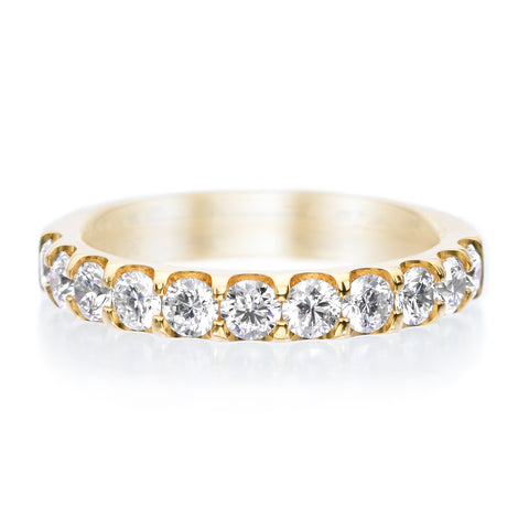 18K Yellow Gold Stardust Diamond Stacking Band