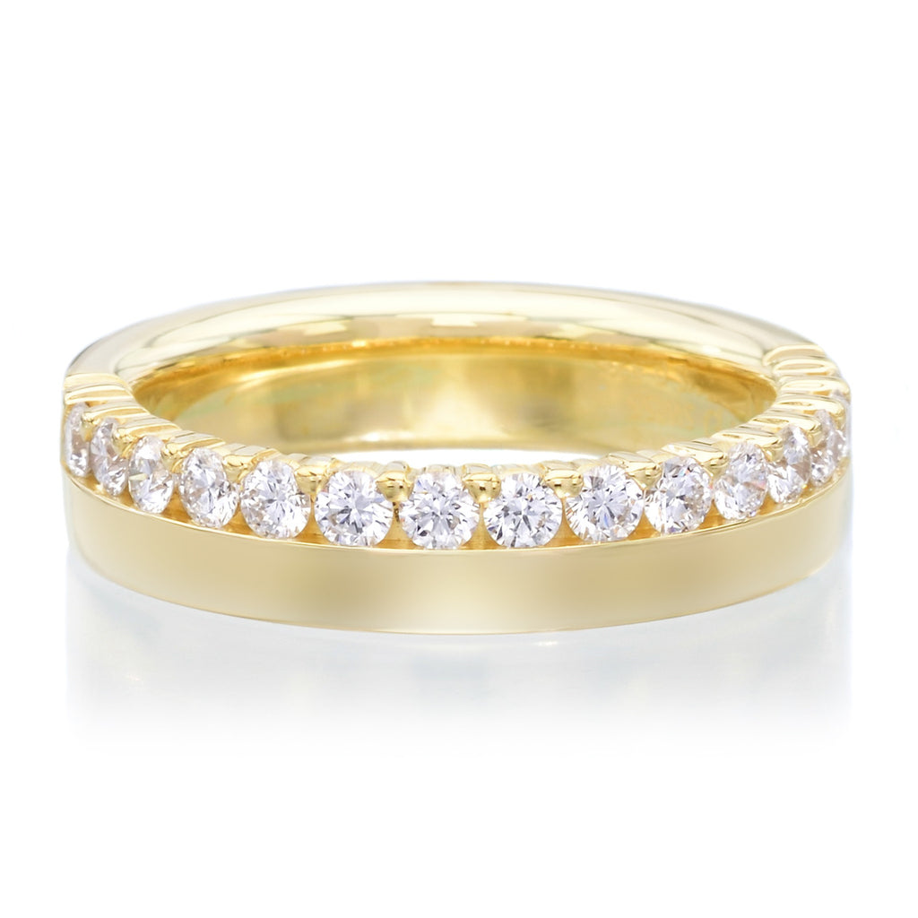 18K Yellow Gold Polished Diamond Band