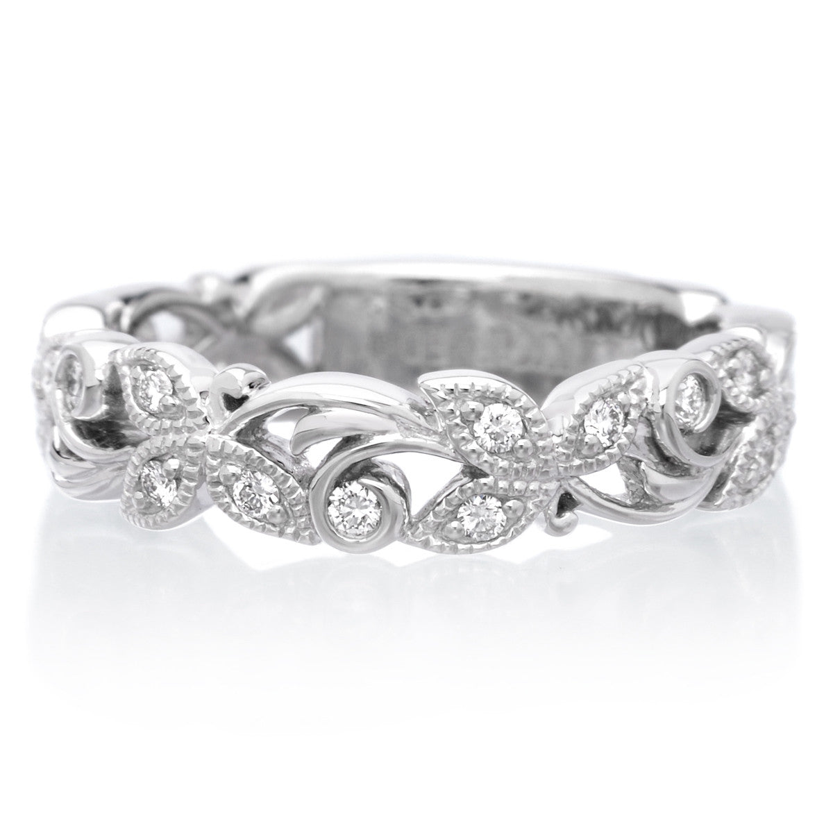 18K White Gold Diamond Anniversary Band