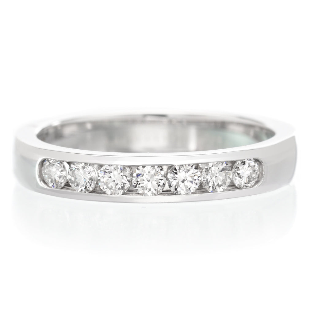 eternity diamond set ring gold rings channel