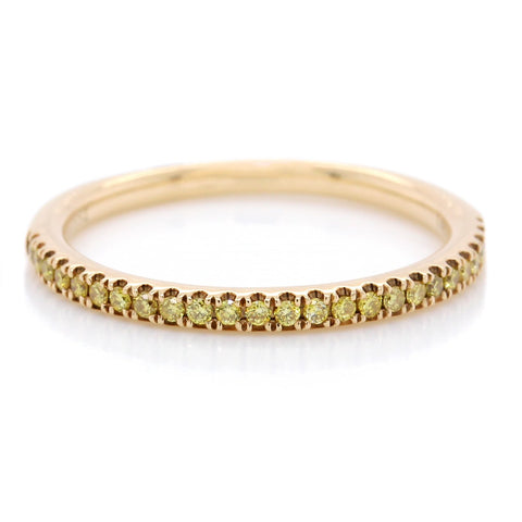 14K Yellow Gold Yellow Diamond Pave Band