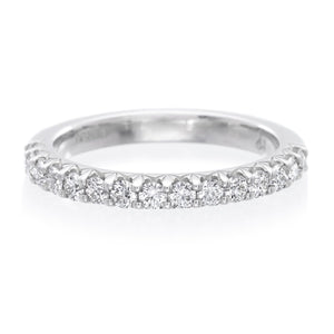 Platinum Shared Prong Diamond Wedding Band
