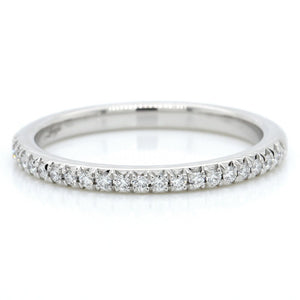 Platinum Modern Classic Diamond Band