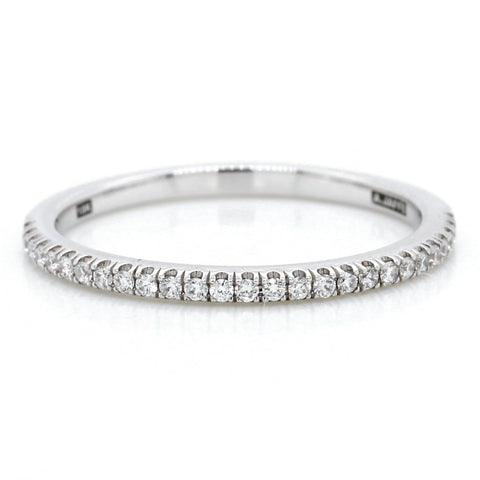 18K White Gold Prong Set Diamond Band