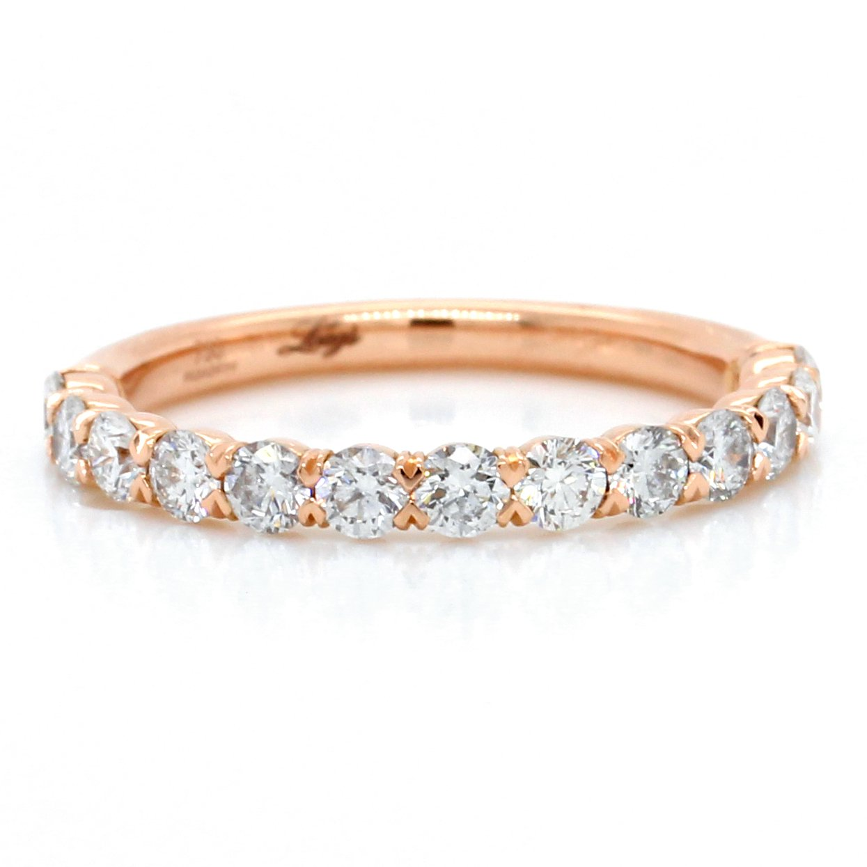 18K Rose Gold Flush Fit Diamond Band