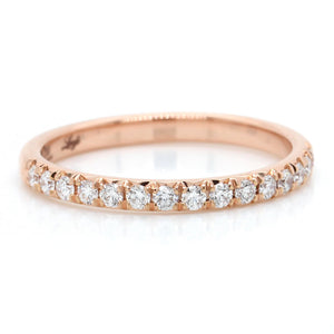18K Rose Gold Shared Prong Diamond Band
