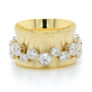 18K Yellow Gold and 14K White Gold Orbit Diamond Band