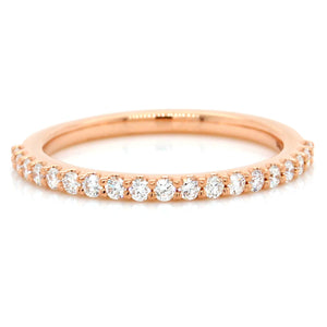 18K Rose Gold French Set Diamond Band