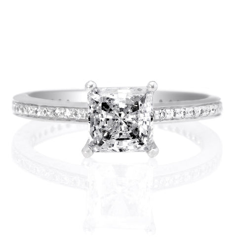 Platinum Micro-Pavé Engagement Ring
