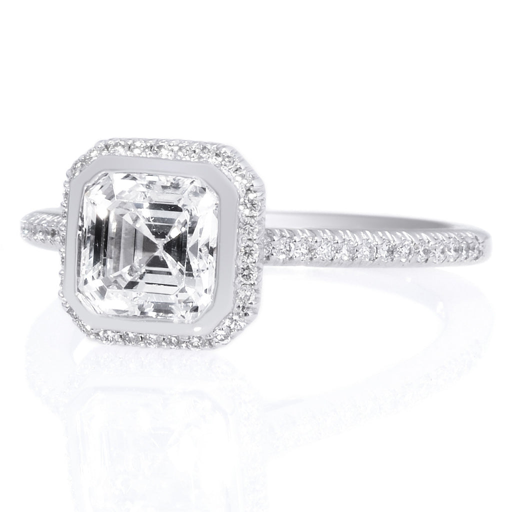 rings ring jewelry three in with simple wg engagement cut white diamond gold nl stone asscher