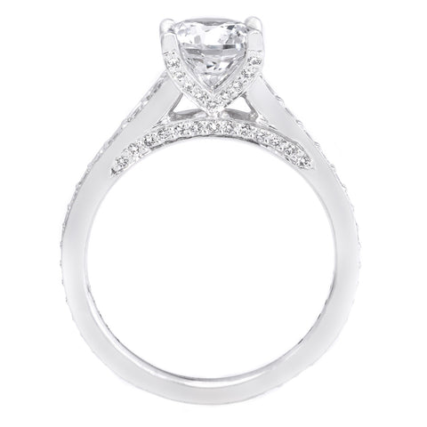 18K White Gold Modern Graduated Engagement Ring