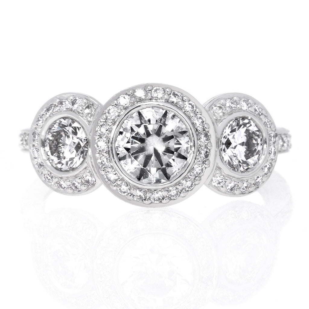 diamond rings ozhvyto classy oval settings bezel ring set engagement in beveled palladium cut