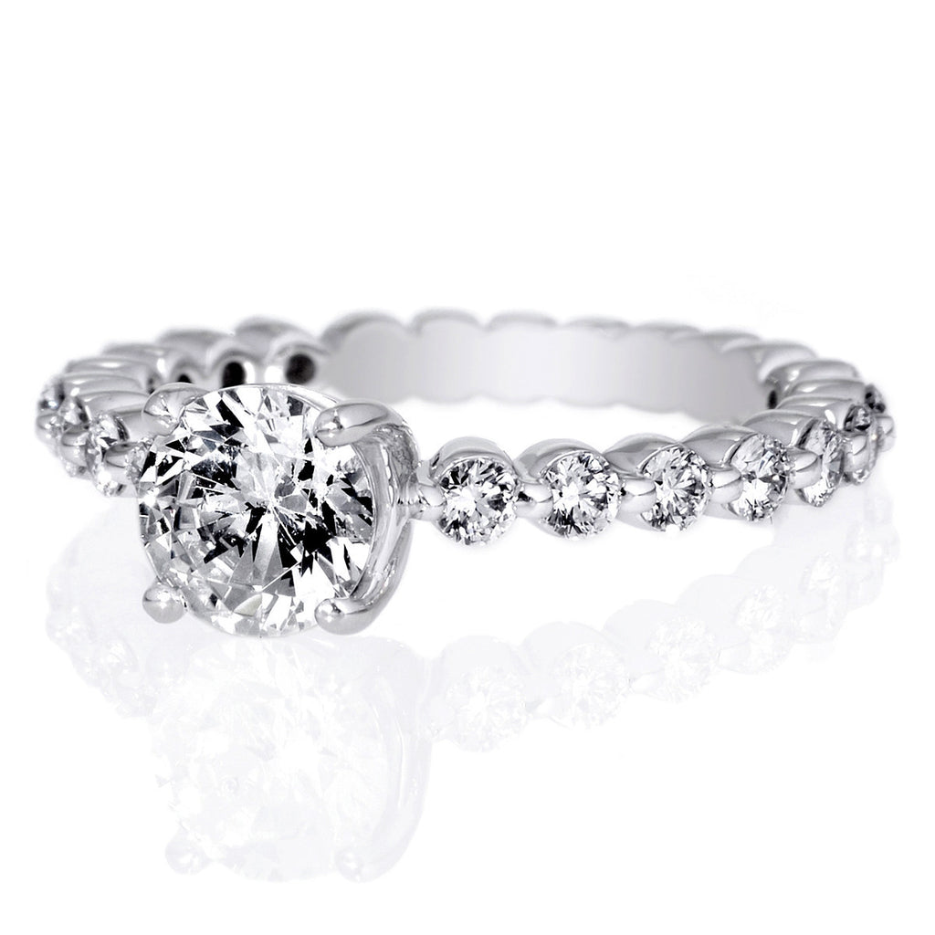 wb basket eternity pave rings engagement shared band diamond prong white