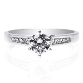 Platinum Extraordinary Pave Engagement Ring