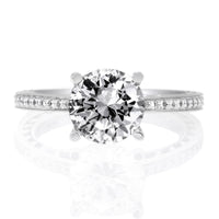 18K White Gold Anadare Engagement Ring Setting