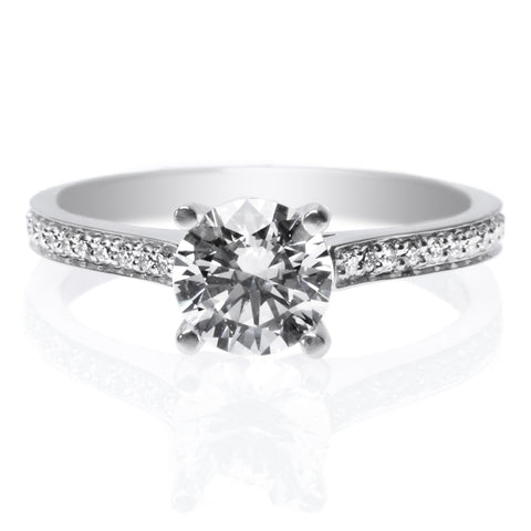 Platinum Graduated 14 Stone Diamond Enagement Ring