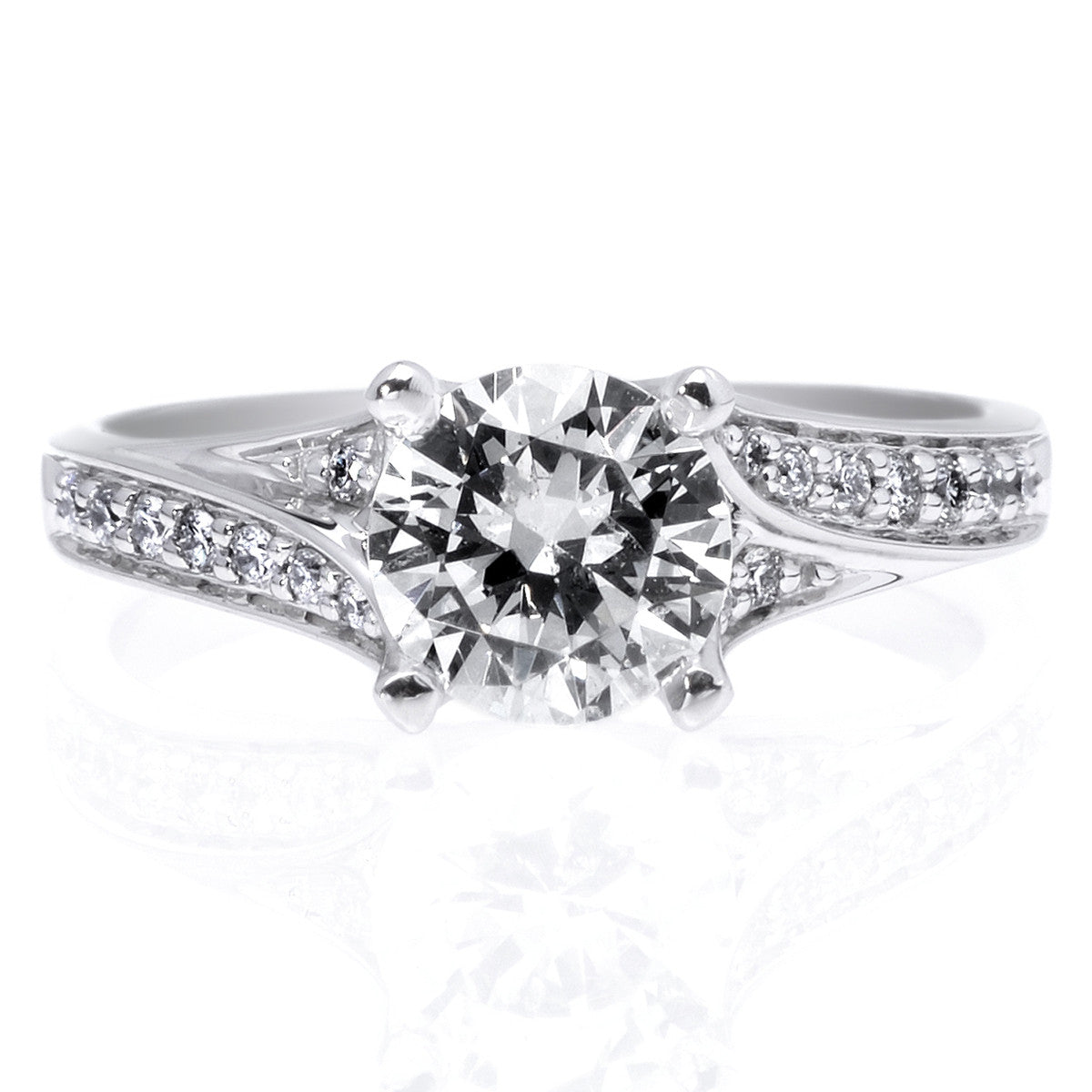 Platinum Split Shank Engagement Ring Setting