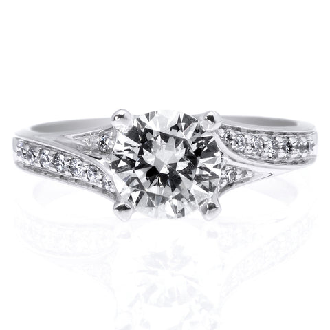 Platinum Split Shank Engagement Ring
