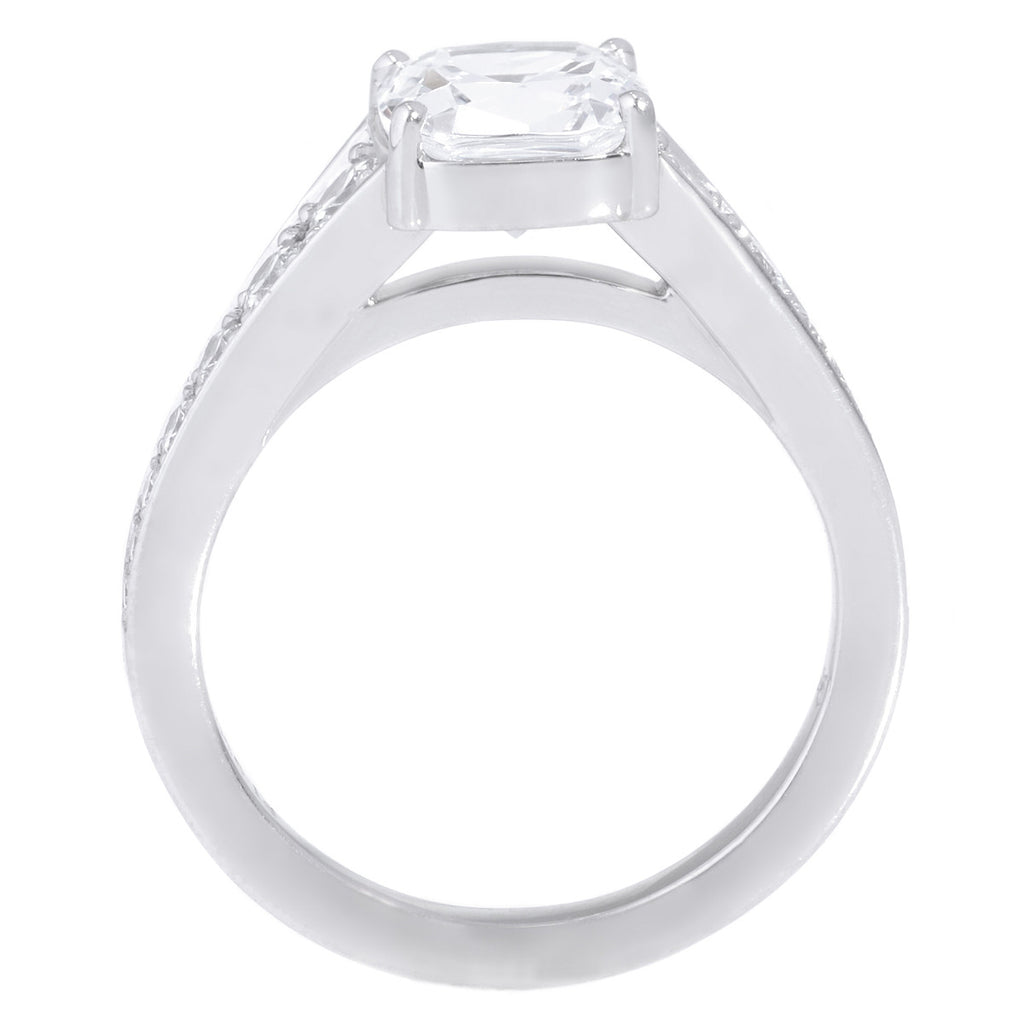 Platinum Graduated 14-Stone Engagement Ring