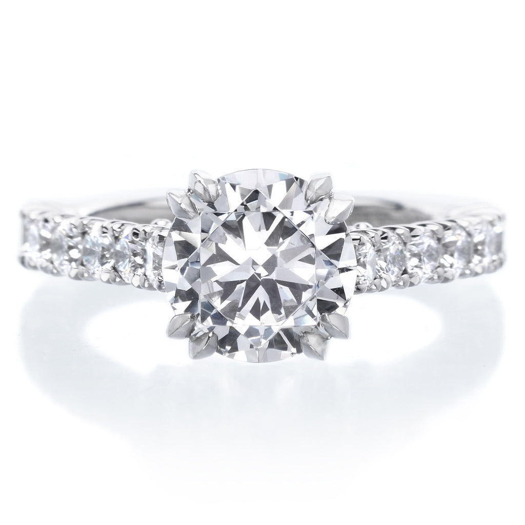 Platinum Double-Prong Engagement Ring