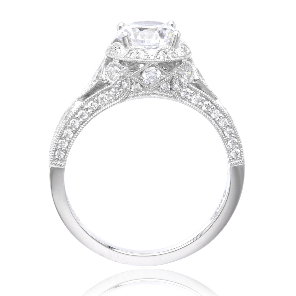 Platinum Vintage Round Brilliant Diamond Engagement Ring