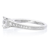 Platinum Classic Brilliant Tapered Engagement Ring Setting