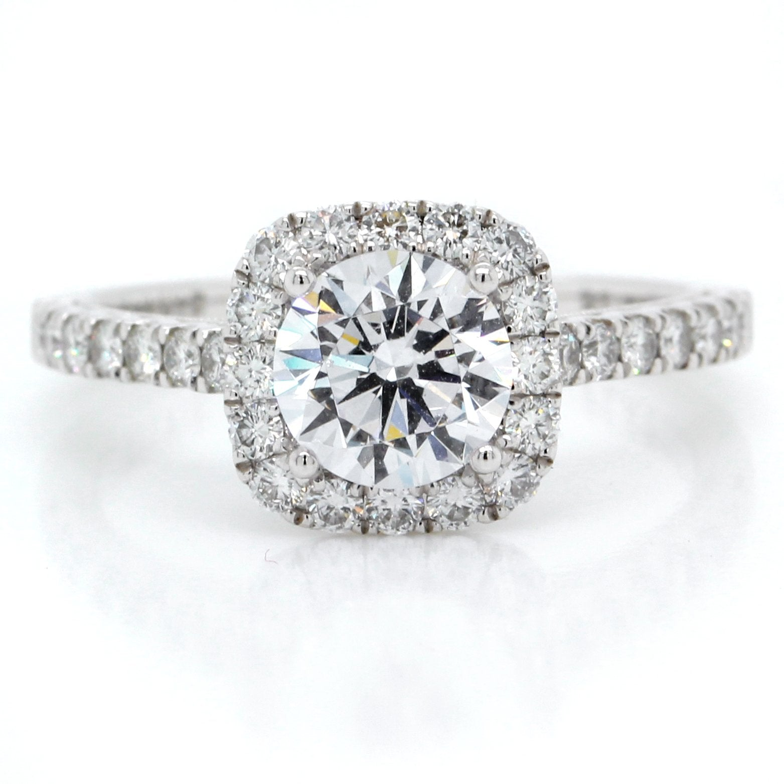 Platinum Vintage Halo Engagement Ring