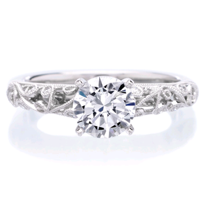 Platinum Vintage Engagement Ring Setting