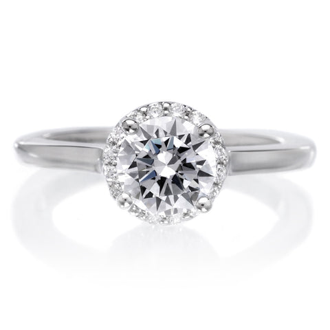 18K White Gold Allison Engagement Ring