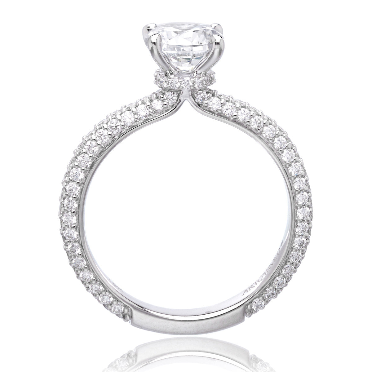 18K White Gold Helena Engagement Ring Setting