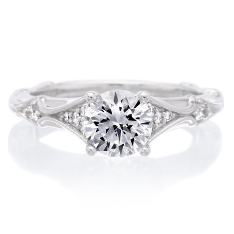 18K White Gold Lorene Engagement Ring