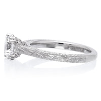 18K White Gold Bernadette Engagement Ring Setting